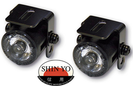 Shin Yo 28mm LED Motorbike Parking Lights and Brackets