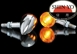 Shin Yo Mini Bullet Chrome Custom Motorcycle Indicators