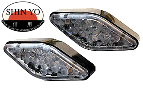 Shin Yo Salmi Fairing or Bodywork Mounted LED Motorbike Indicators