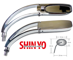 Shin Yo STURGIS Chrome Right~Hand Motorcycle Mirror
