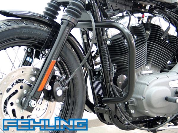 HD Sportster Evo after 2004 Roadster and Low Nightster and Iron Fehling Big Bar Black Engine Bars