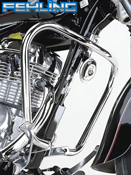 Suzuki GZ125 Marauder 1998~02 Fehling Chrome Engine Bars