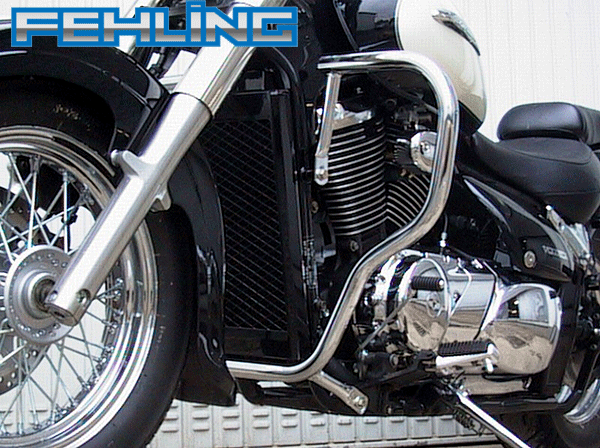 Suzuki VL800 LC Volusia C800 Intruder Fehling Chrome Big Bar Engine Bars