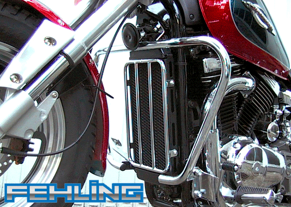 Suzuki VZ800 Marauder 1996~03 Fehling Chrome Big Bar Crash Protection