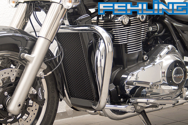 Triumph Thunderbird Storm Commander LT1700 2014 onwards Fehling Oversize Chrome Engine Bars
