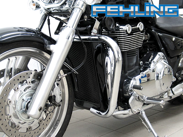 Triumph Thunderbird 1600 and Storm Fehling Oversize Chrome Engine Bars