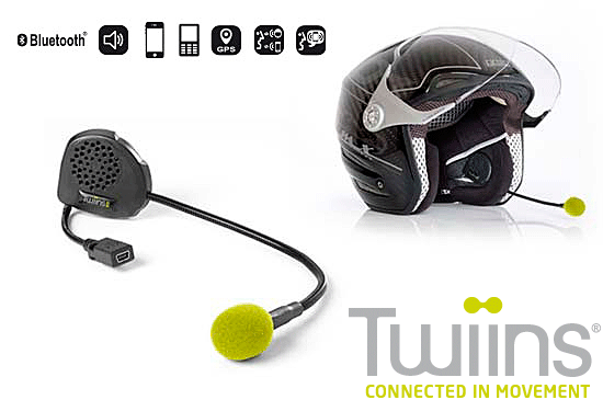 TWIINS D1VA Hands~Free Bluetooth Communication System