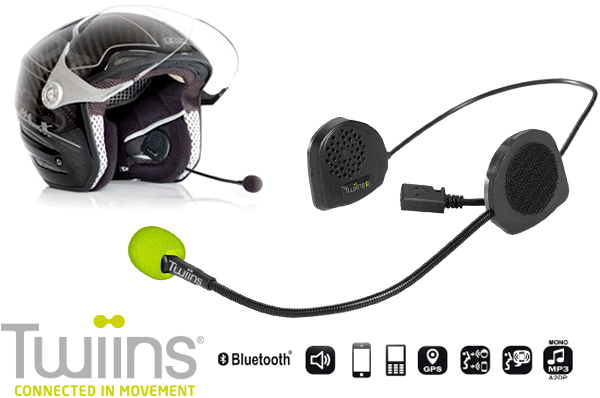 TWIINS D2 Hands~Free Bluetooth Communication System