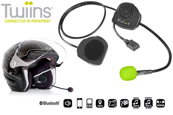 TWIINS D3 Hands~Free Bluetooth Communication System