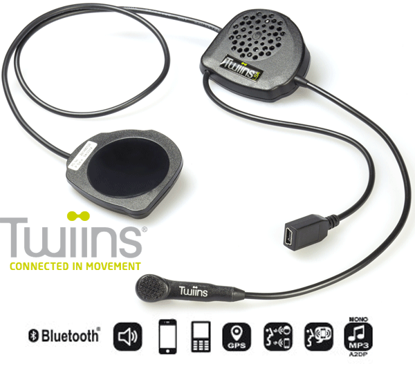 TWIINS FF2 Hands~Free Full Face Bluetooth Communication System