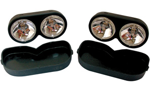 Twin Spot Lights with Snap On Covers Pair Supplied
