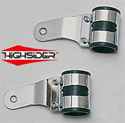 Highsider Chrome Motorcycle Streetfighter Headlight Brackets