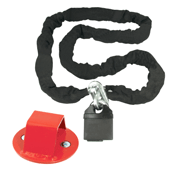 Value 10mm x 1800mm Lock And Chain Plus Ground Anchor