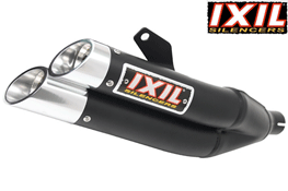 Honda VFR800X Crossrunner IXIL Black Hyperlow XL Stainless e~Marked Exhaust