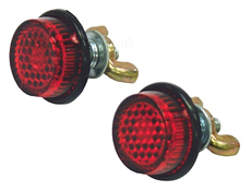 Bolt Mount Round Rear Reflectors Pair Supplied