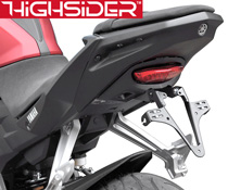 Yamaha MT125 2014 onwards Highsider Tail Tidy Number Plate Bracket