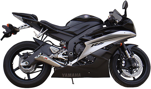 Yamaha YZFR6 2006 to 2014 IXIL X55 Stainless Steel Slip On Silencer
