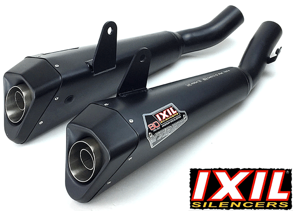 Kawasaki Z1000 SX 2010 to 2017 IXIL X55 Stainless Steel Black Slip On Silencer Pair